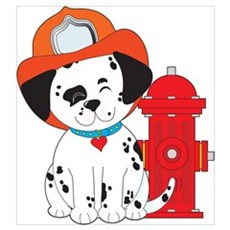 Dalmation Fire Dog Wall Art Poster