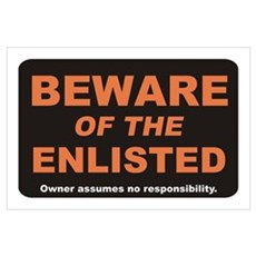 Beware / Enlisted Wall Art Poster