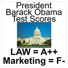 Obama's test scores Wall Art Poster