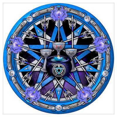 Water Elemental Pentacle Wall Art Poster