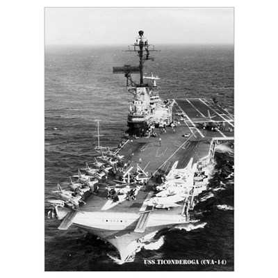 USS TICONDEROGA Wall Art Poster