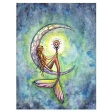 Mermaid Moon Wall Art Canvas Art