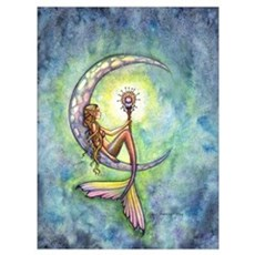 Mermaid Moon Wall Art Poster