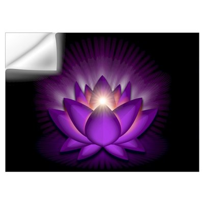 "Violet ""Crown"" Chakra Lotus Wall Art Wall Decal"