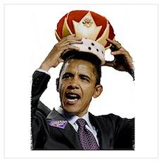 King Barack Obama Wall Art Poster
