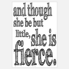 She is Fierce Shakespeare Wall Art