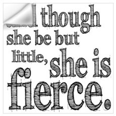 She is Fierce Shakespeare Wall Art Wall Decal