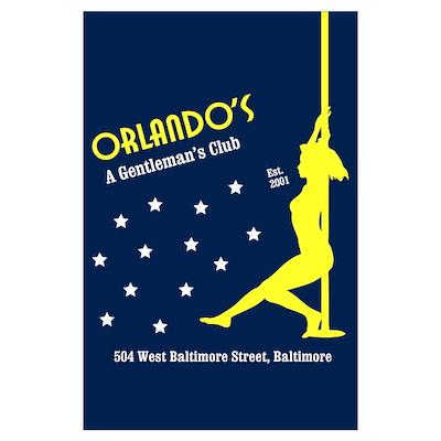 "Orlando's: A Gentleman's Club Print (23"" x 35 Poster"