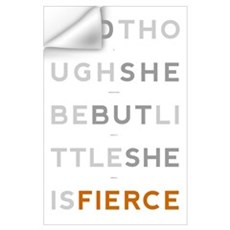 She is Fierce - Block Wall Art Wall Decal