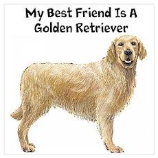 Golden Retriever Wall Art Poster