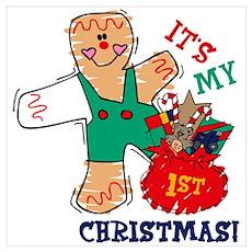 My 1st Christmas (Boy) Wall Art Poster