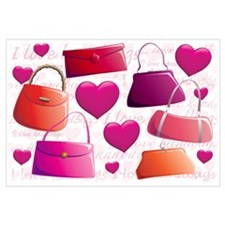 I love Handbags Wall Art