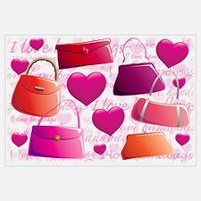 I love Handbags Wall Art