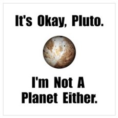 Pluto Planet Wall Art Poster