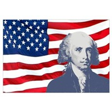 Madison and Flag Wall Art Canvas Art