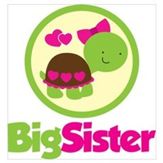Turtle Big Sister Wall Art Poster