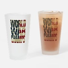 Cute Back to back world war champs Drinking Glass