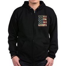 Unique Back to back world war champs Zip Hoodie