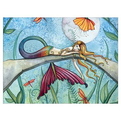 Colorful Mermaid Wall Art Poster