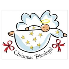 Christmas Blessings Wall Art Framed Print