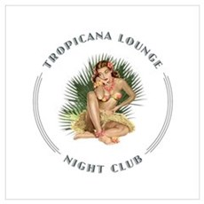 Tropicana Lounge Girl 1 Wall Art Framed Print
