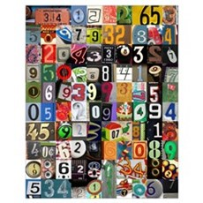 Pi Places Wall Art Poster