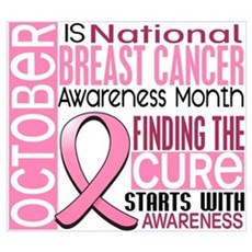 Breast Cancer Awareness Month Wall Art Poster
