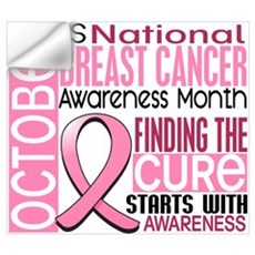 Breast Cancer Awareness Month Wall Art Wall Decal