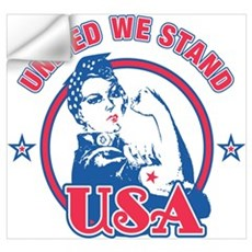Rosie Riveter United USA Wall Art Wall Decal