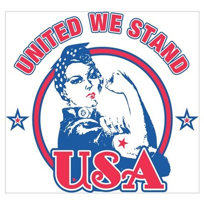 Rosie Riveter United USA Wall Art Poster