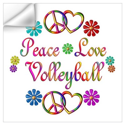 Peace Love Volleyball Wall Art Wall Decal
