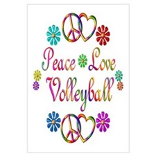 Peace Love Volleyball Wall Art