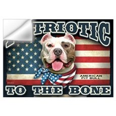Patriotic - Pit Bull Wall Art Wall Decal