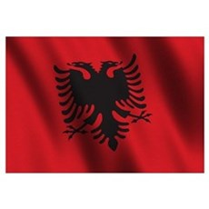 Flag of Albania Wall Art Canvas Art