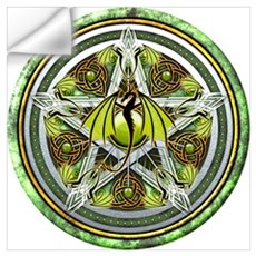 Celtic Earth Dragon Pentacle Wall Art Wall Decal