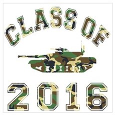 Class Of 2016 Military School Wall Art Poster