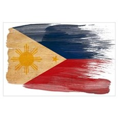 Philippines Flag Wall Art Poster