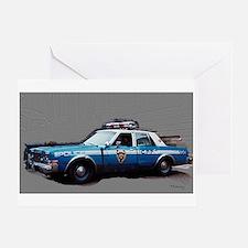 New York City Police Car Greeting Card