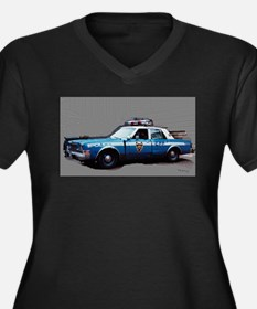 New York City Police Car Women's Plus Size V-Neck