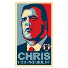 Christie For President Wall Art Framed Print