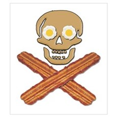 Food Pirate Bacon Eggs Wall Art Poster