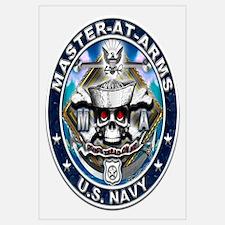 USN Master-At-Arms Skull MA B Wall Art