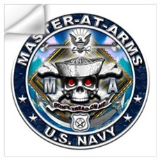 USN Master-At-Arms Skull MA B Wall Art Wall Decal