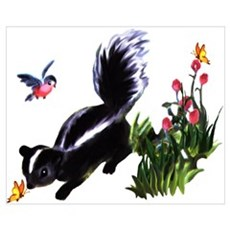 Cute Baby Skunk Wall Art Canvas Art