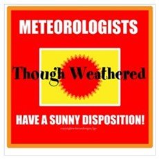 Meteorologists Though Weather Wall Art Poster