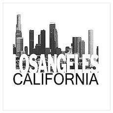 Los Angeles Skyline Wall Art Poster