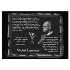 Foucault's Critique Wall Art Poster