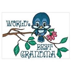 Birdie Best Grandma Wall Art Poster
