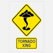 Tornado Crossing Wall Art