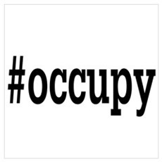#Occupy Wall Art Poster